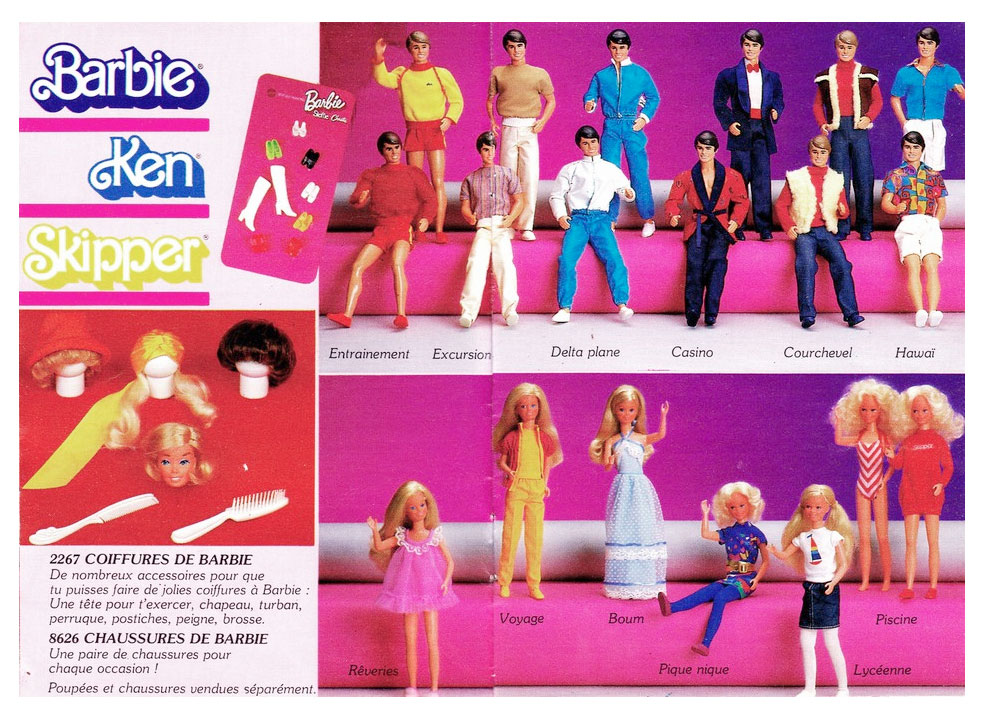 From 1984 French Mattel toy brochure