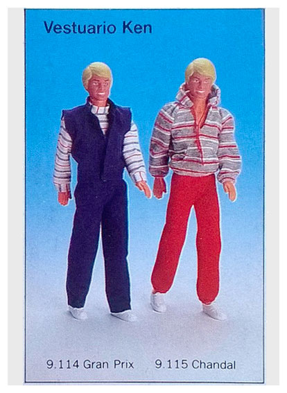 From 1985 Spanish Barbie packaging