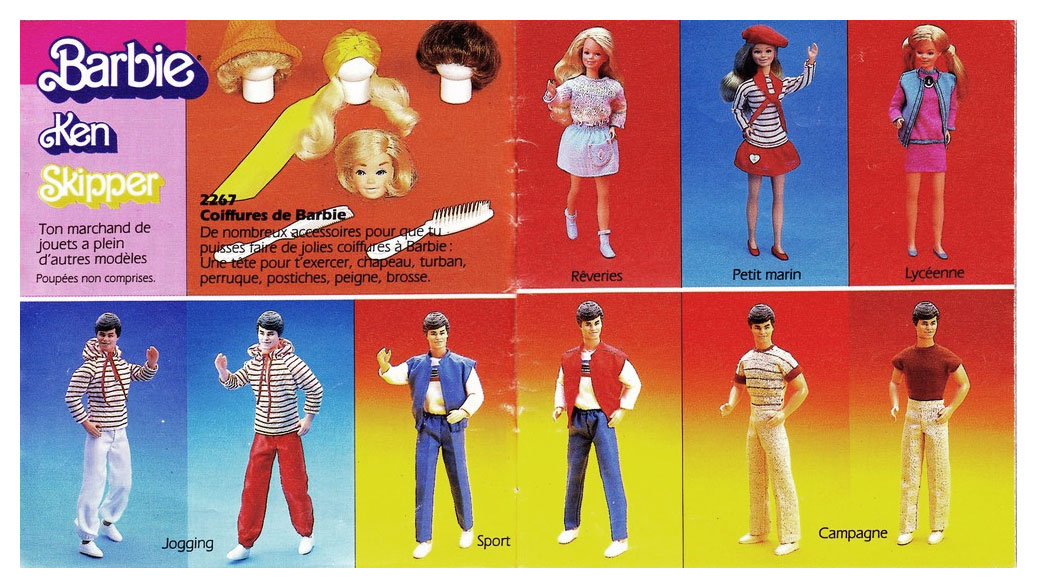 From 1985 French Barbie booklet