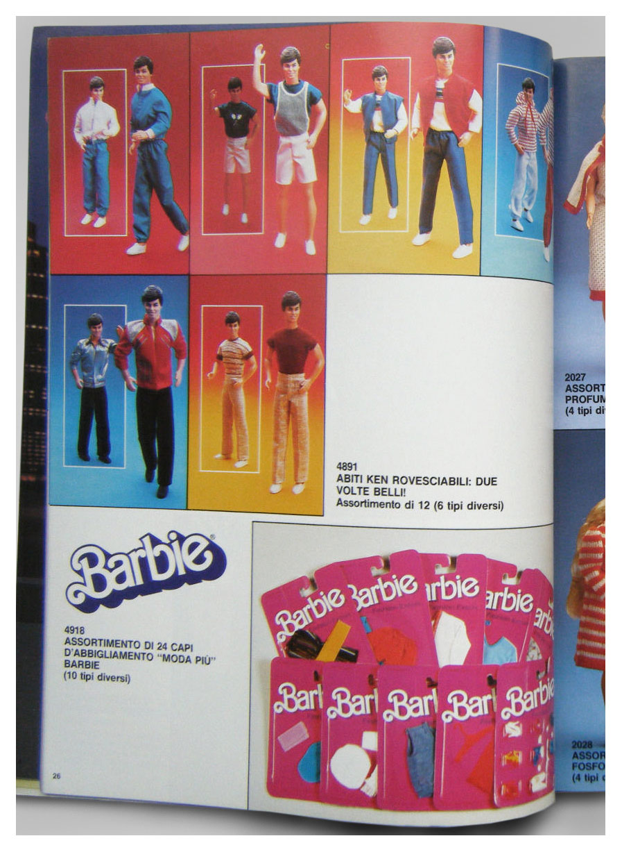 From 1985 Italian Mattel Toy catalogue