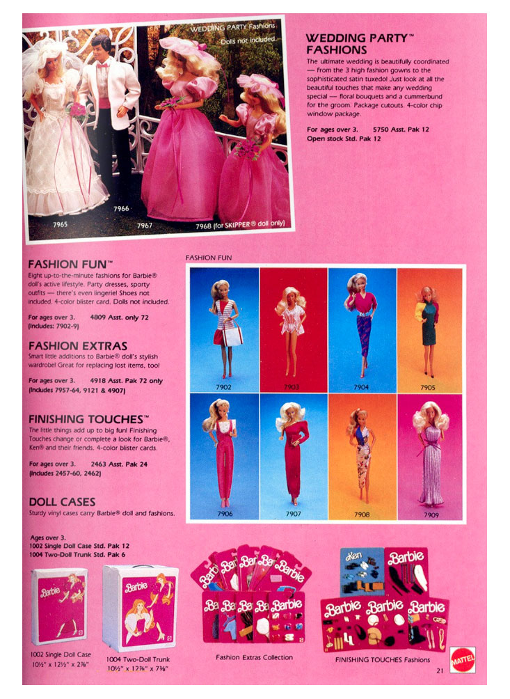 From Mattel Toys 1985 catalogue