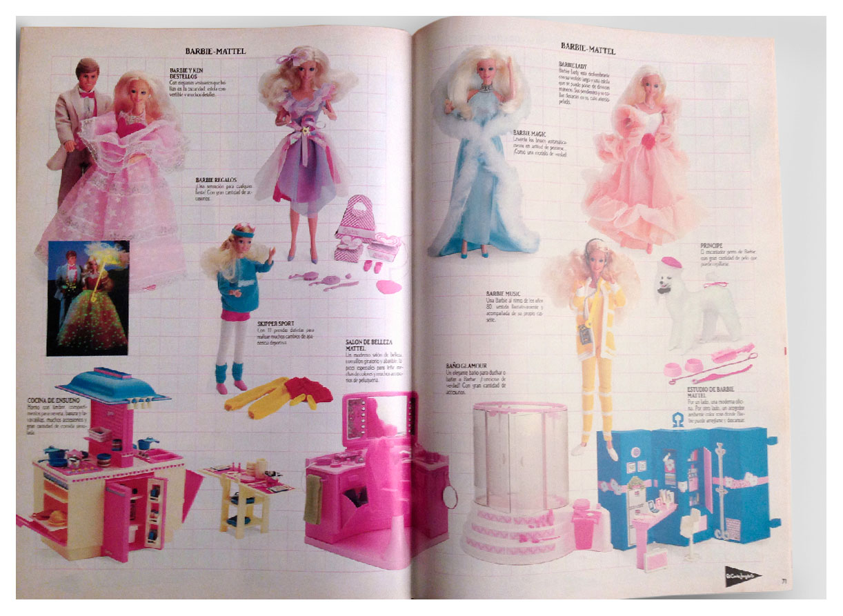 From 1986 Spanish El Cortes Inglés catalogue