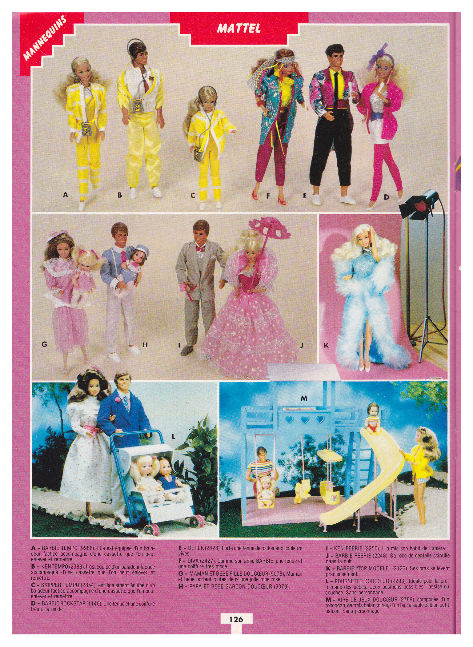 From 1986 French 1000 Jouets en Technicolor catalogue
