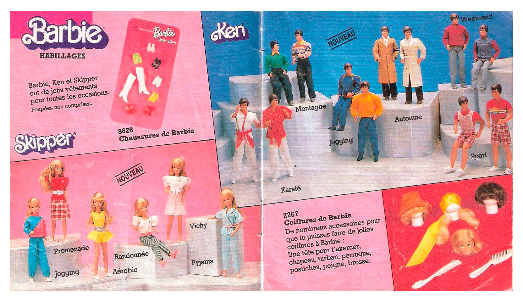 From 1986 French Barbie booklet
