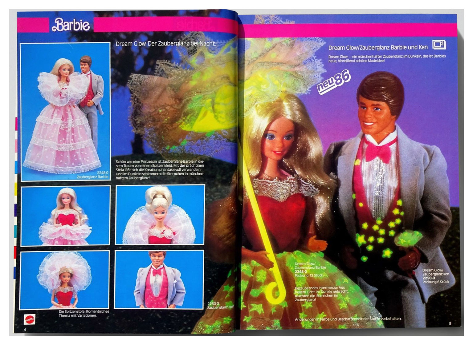 From 1986 German Mattel Toys catalogue