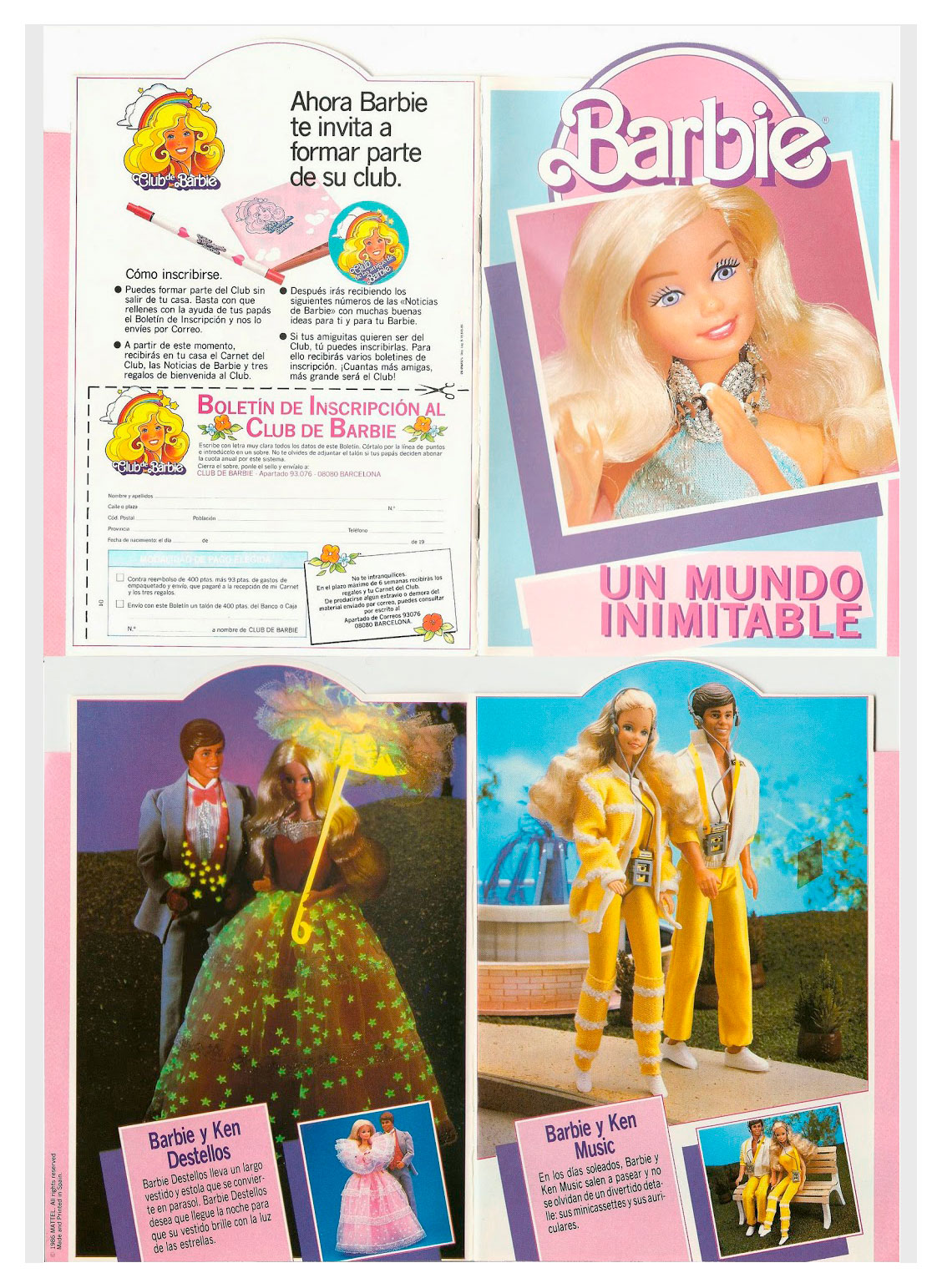 From 1986 Spanish Barbie booklet