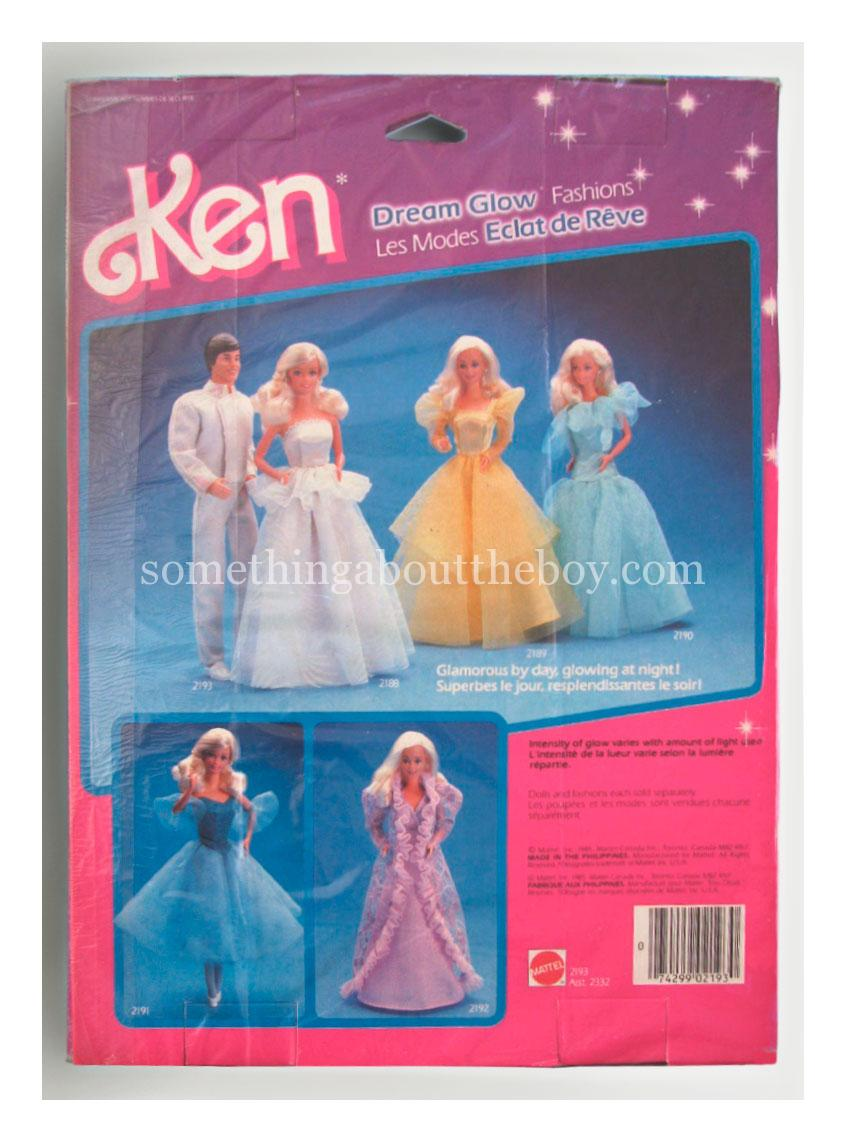 1986 #2193 Dream Glow Fashions (Canadian version)