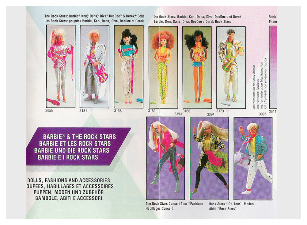 From 1987 European Barbie booklet