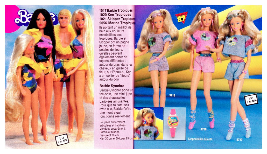 From 1987 French Barbie booklet