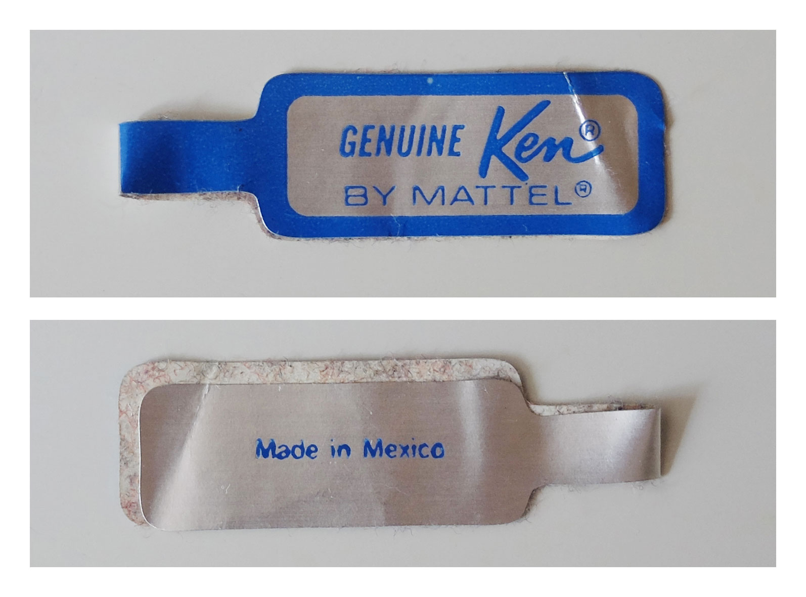 Ken wrist tag (Made in Mexico)