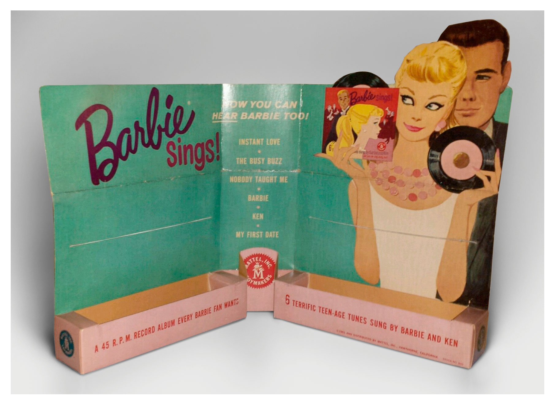 1961 Barbie Sings record Counter Display