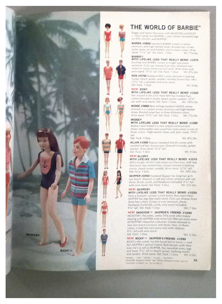 From 1965 Mattel For Fall '65 catalogue