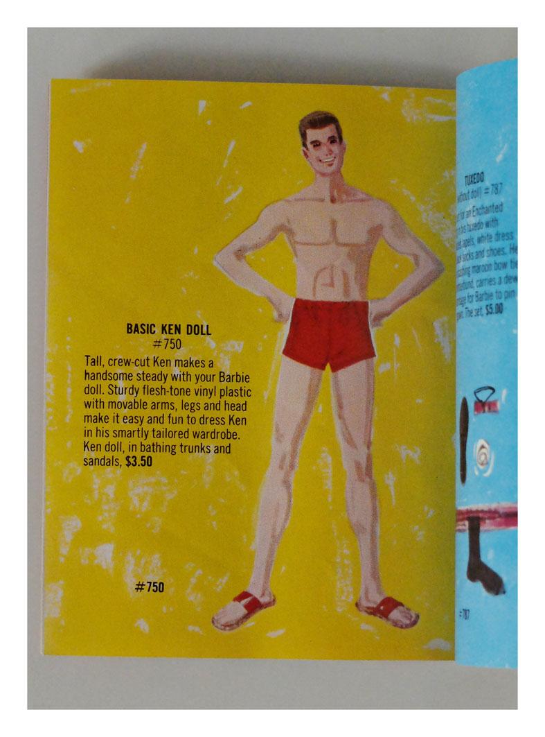 From 1961 Barbie & Ken booklet ('brownette')