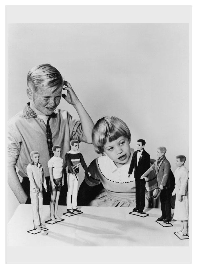 1961 Mattel publicity photo for Ken