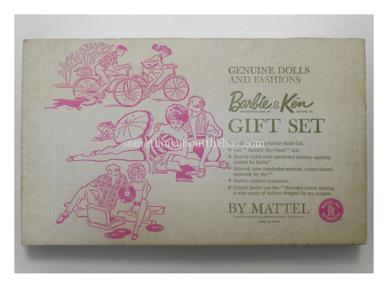 1962 Barbie & Ken Gift Set #892 reverse of packaging