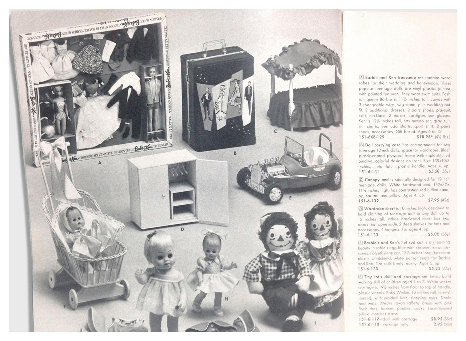 From 1963 Marshall Field & Company Christmas toy catalogue